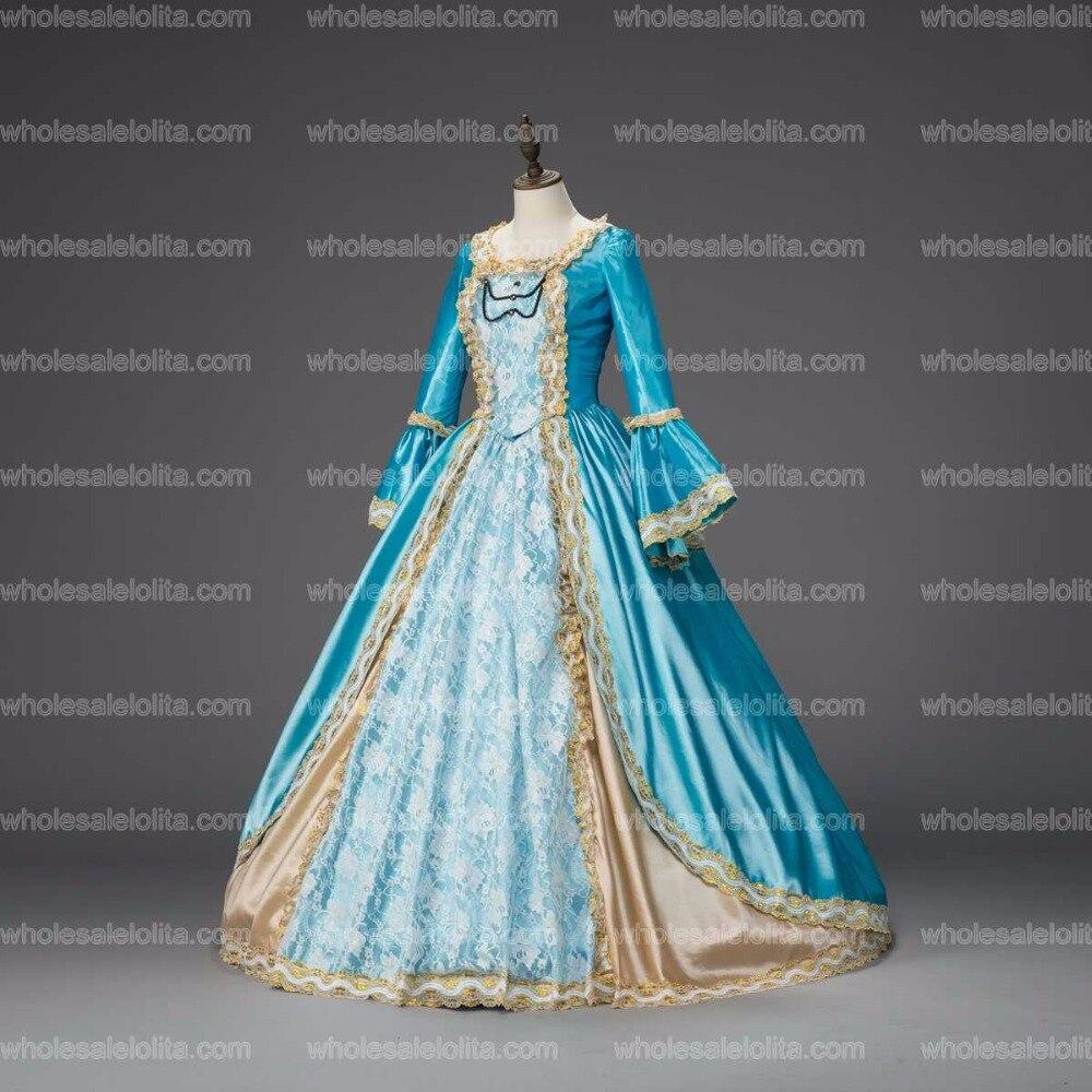 Georgian Marie Antoinette Prom Dress Christmas Caroling Dress ...