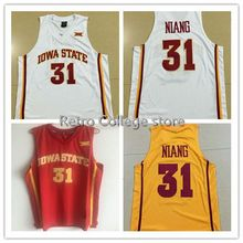 5144ec864  31 Georges Niang Iowa State Red White Yellow Men s Basketball Jersey  Embroidery Stitched Customize any name and number