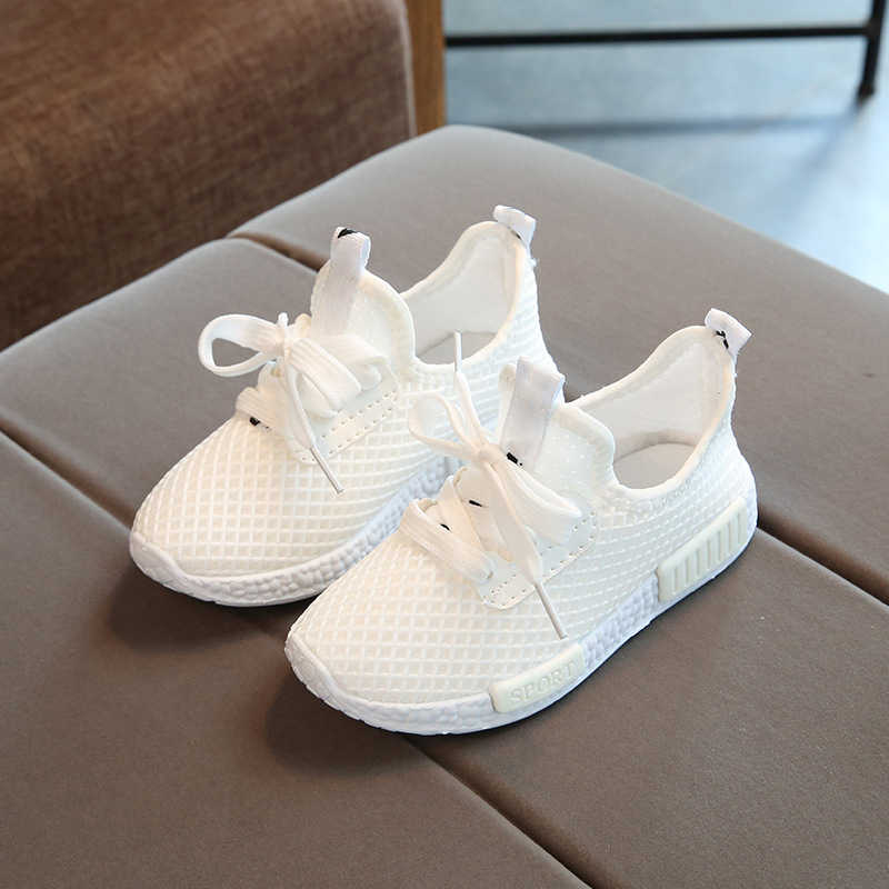 Children casual shoes summer girls boys sports shoes breathable mesh kids sneakers white chaussure enfant garcon fille