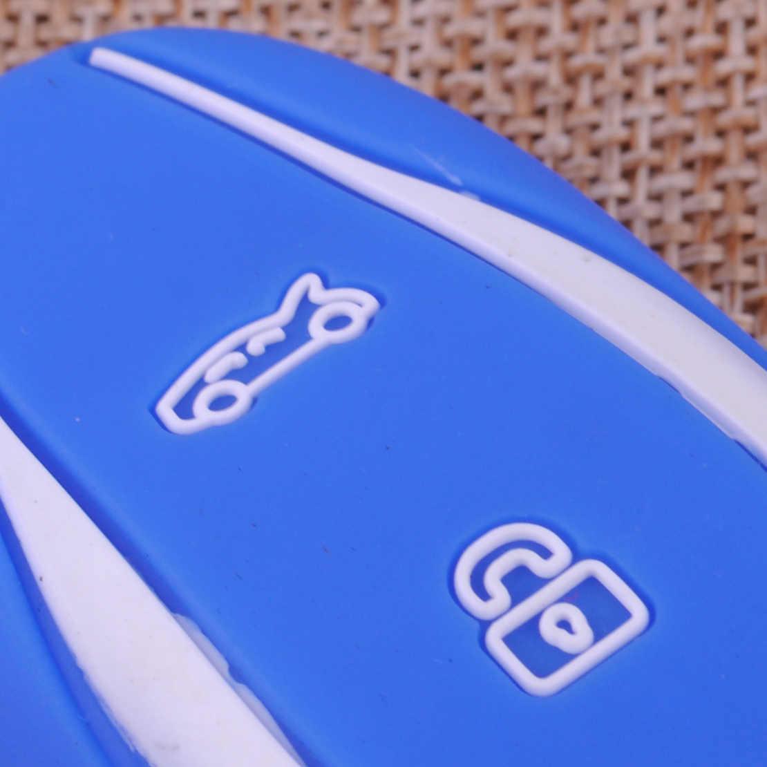 CITALL סיליקון 3 כפתורים רכב מרחוק מפתח Fob עור מעטפת כיסוי מקרה מחזיק Fit עבור טסלה דגם S X