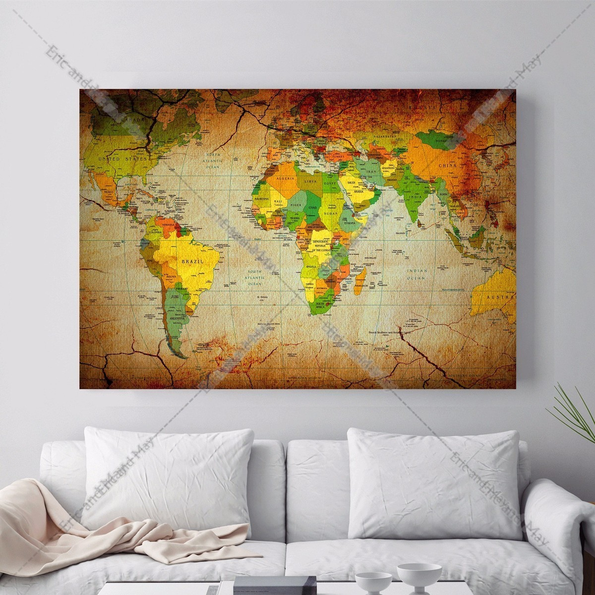 Online Get Cheap World Map Canvas Poster -Aliexpress.com | Alibaba Group