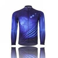 Sıcak Erkekler Mavi Bisiklet Uzun jersey Pro Team Bisiklet giyim Sürme üst MTB Ropa Ciclismo Maillot Uzun Kollu Gömlek Dijital Yaş Giymek