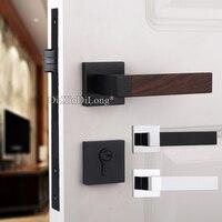 Comparar Europea elegante mudo cerradura de la puerta de madera maciza interior cerradura de la puerta de