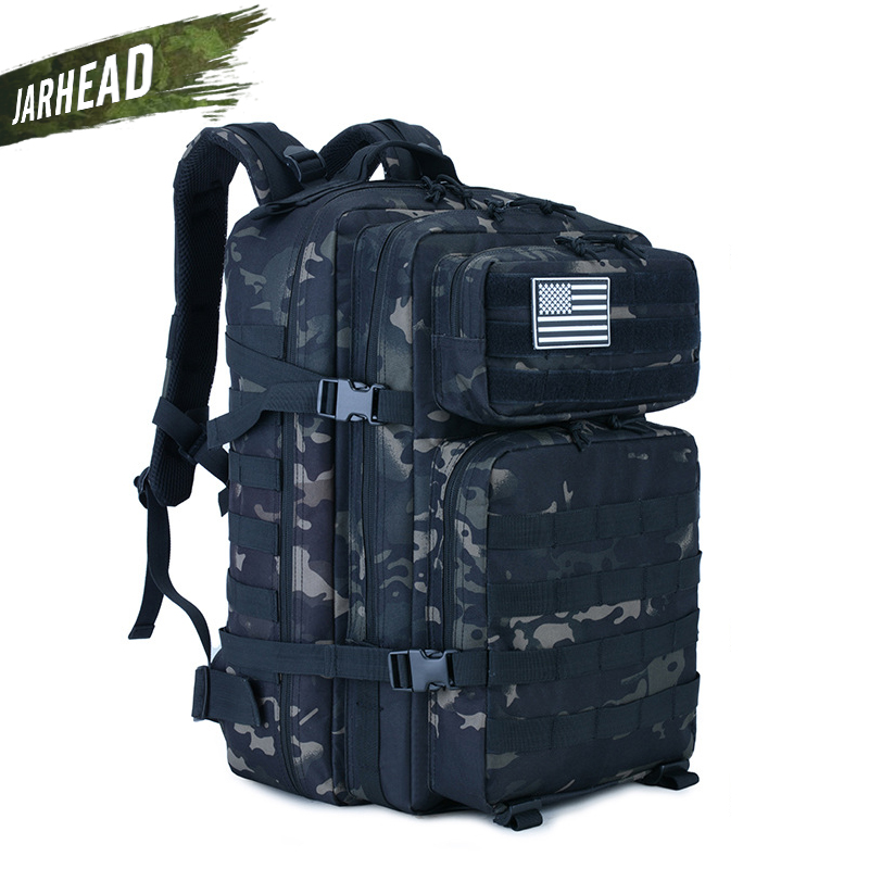 45L Large Capacity Man Army Tactical Camo Backpacks Military Assault Bags Outdoor 3P EDC Molle Pack
