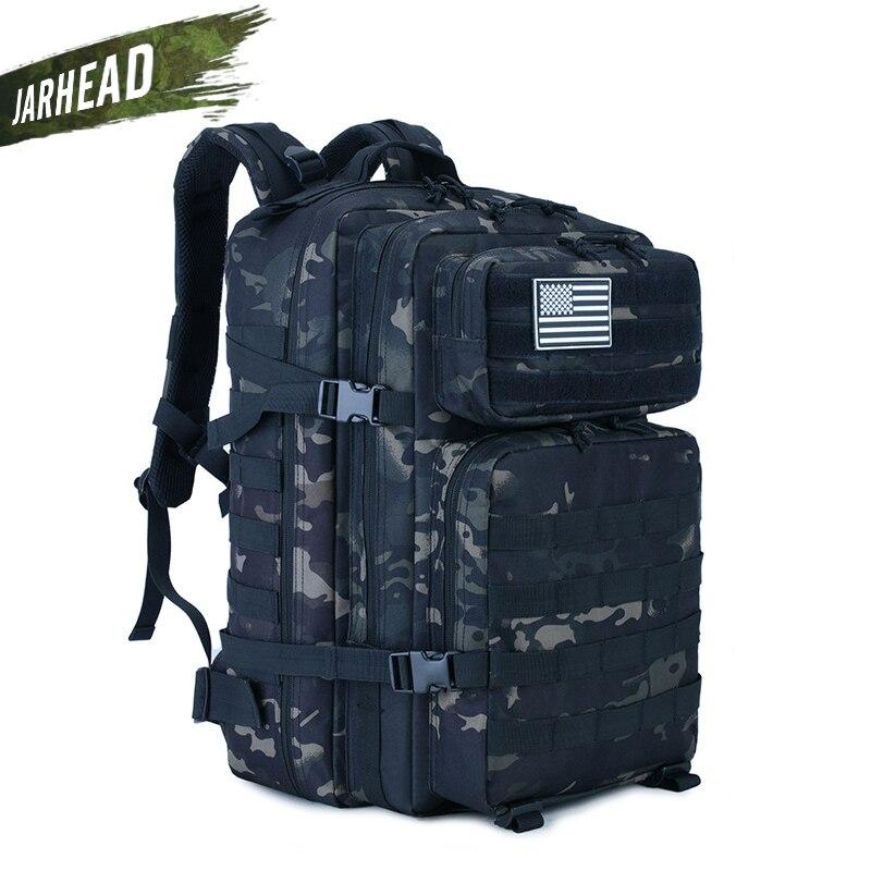 45L grande capacité homme armée tactique Camo sacs à dos militaire assaut sacs en plein air 3P EDC Molle Pack pour Trekking Camping chasse