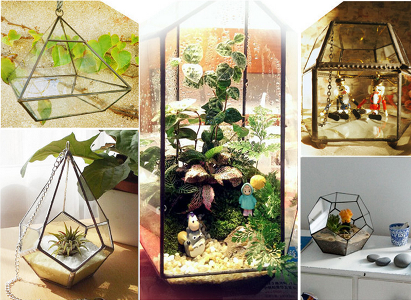 ... Handmade Hanging Tabletop Clear Glass Greenhouse Glass Hanabusa