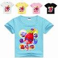 2-8Years Hot Sales Kids  Shirts Girls Shirt Poppy Clothes Teenage Boys Clothing T Shirt Children Summer Short Sleeves MS1105
