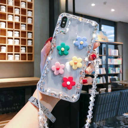 Luxo Bling Diamante Rhinestone Pequena flor Coque Para Samsung A9 A8 A7 A6 A5 2018 J8 J7 J6 J5 J4 2018 2016 2017 Caso de Telefone