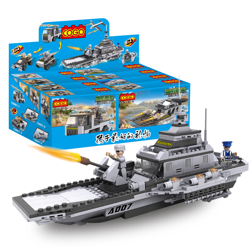 1pcs Military Serise Aircraft Helicopter Tank Warship Chariots Fighting Vehicle Car Building Blocks Toys for Boys Gift 13007 kazi military building blocks army brick block brinquedos toys for kids tanks helicopter aircraft vehicle tank truck car model