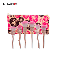 At Fashion New Arrival Powder Brush 6pcs Rose Shaped High Quality Makeup Brush Set Professional Travel