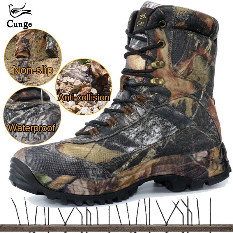 CUNGE En Plein Air Tactique de Sport Hommes Chaussures Imperméables chaussures de randonnée D'hiver En Plein Air Masculins bottes de chasse chaussures de montagne Hommes Armée Boot