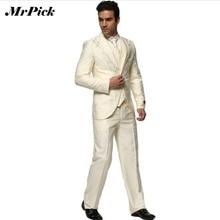 (Jacket+Pants+Vest+Square+Tie) 2016 New Fashion Men's Suit Business Suit Rhinestone High Grade Wedding Costume Homme GS005