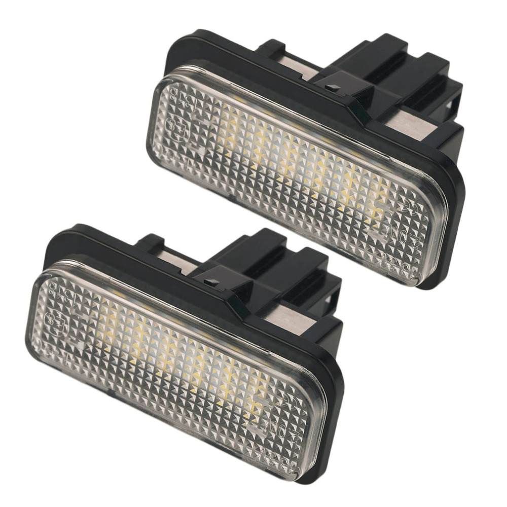 ICOCO 2016 New 2pcs Car LED 18SMD Error Free LED License Plate Light Lamp fit For Benz W203 5D W211 W219 R171 drop shipping 2pcs error free led smd license plate light for toyota land cruiser lexus gx lx470 new dropping shipping