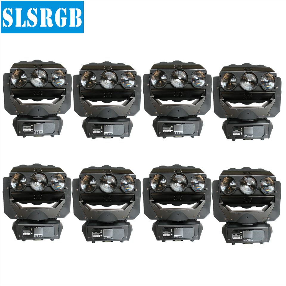 8pcs/lot Pixel Blade 9 pcs 15w Rgbw 4in1 Continue Rotating Led Beam Moving Head DJ bar 9pcs 10w rgbw 4in1 led spider beam moving