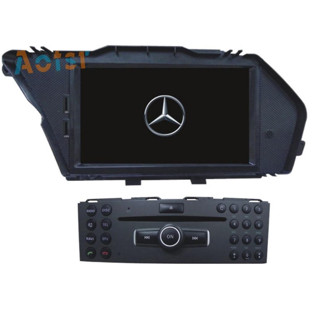 4 Core Android6.0/7.1 Car Radio Car CD DVD Player Stereo GPS Navigation For Mercedes Benz GLK 2008 2010 GLK X204 GLK 300 GLK 350
