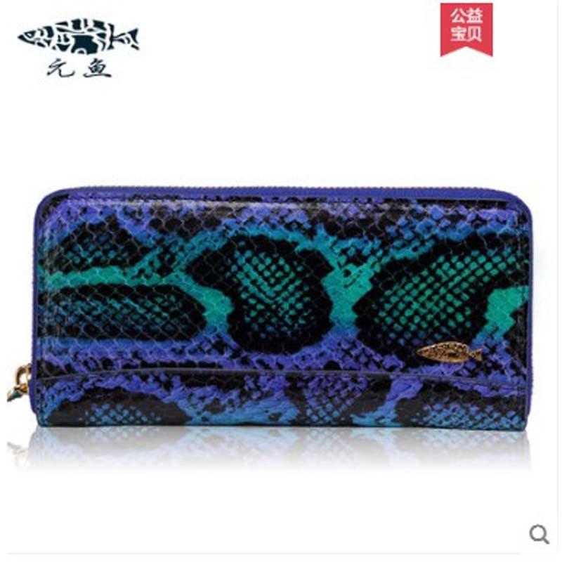 yuanyu yuanyu Genuine new python snakeskin handbag ladies purse long wallet Korean version clutch bag special price