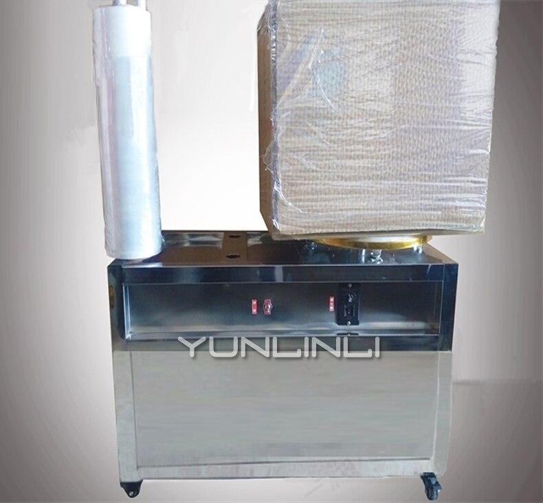 Tray Semi Automatic PE Packaging Machine PE Film Wraping Machine Winding Film Machine With 30kg Torque Film Drawing Machine