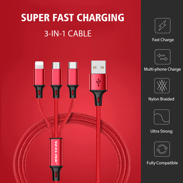 3 in 1 USB Cable for Phones