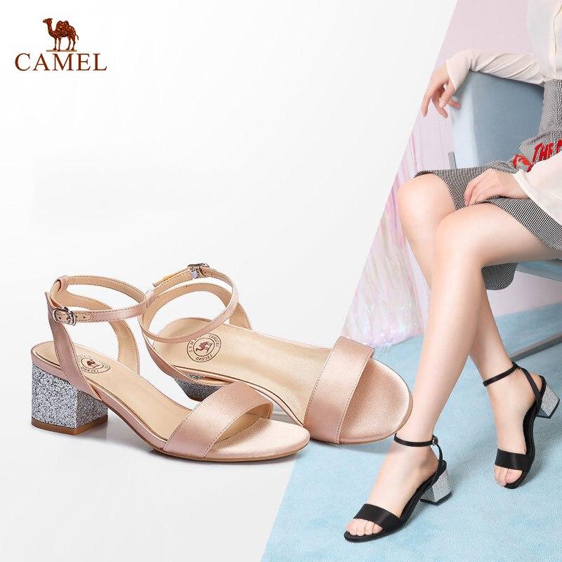 CHAMEAU Creative Femme Sandales 2018 Nouvelles Femmes D'été Élégant Exposés Bout Doux Sandales Petite fée De Mode En Cuir Sandales
