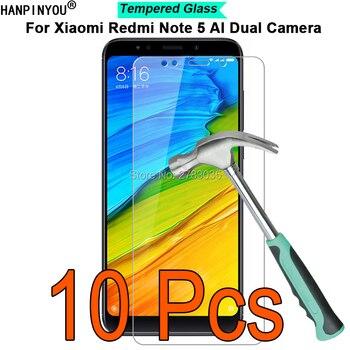 10 Pcs For Xiaomi Redmi Note 5 AI Dual Camera 9H Hardness 2.5D Ultra-thin Toughened Tempered Glass Film Screen Protector Guard