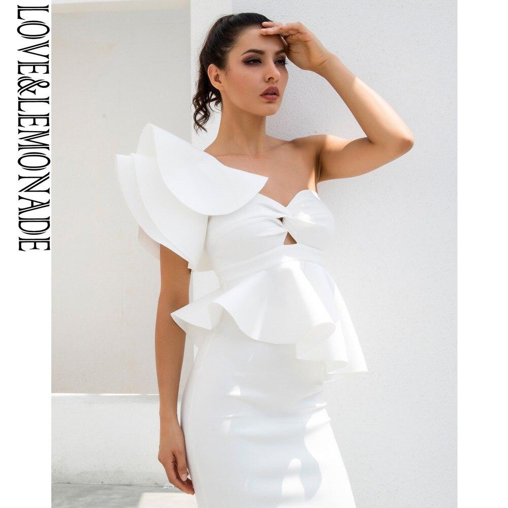 Conjuntos hombro Lm1190 Dos Y Limonada Amor Uno Piezas Blanco Volantes De 7zIxvn6