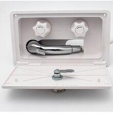 RV Автомобильная внешняя душевая коробка переключатель холодной и горячей воды душевая головка с пластиковым шлангом душ с пластиковым шлангом