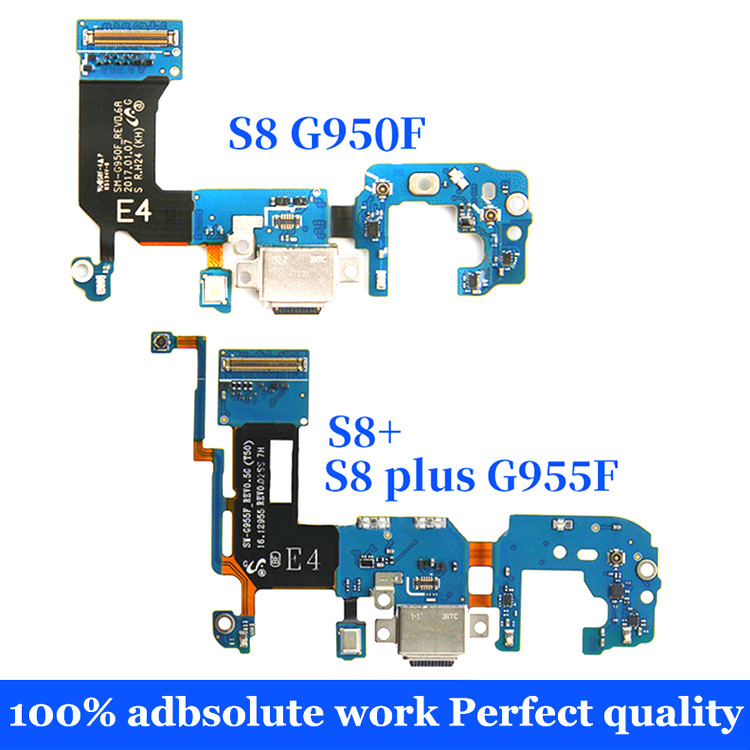 For Samsung Galaxy S8 G950F G950U S8 Plus G955F USB Charging Charger Connector Dock Port Flex Cable Replacement Repair Parts