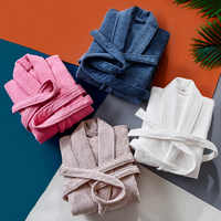 High quality Winter Thicken combed cotton bathrobes sleepwear robes unisex nightgown pajamas absorbent terry bathrobes pijamas