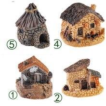 8 видов стилей каменный дом Сказочный Сад, миниатюра ремесло микро пейзаж с коттеджем украшения для DIY Смола ремесла