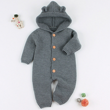 Baby Romper 3D Cartoon Bear Knitted New Born Funny Jumpsuits
