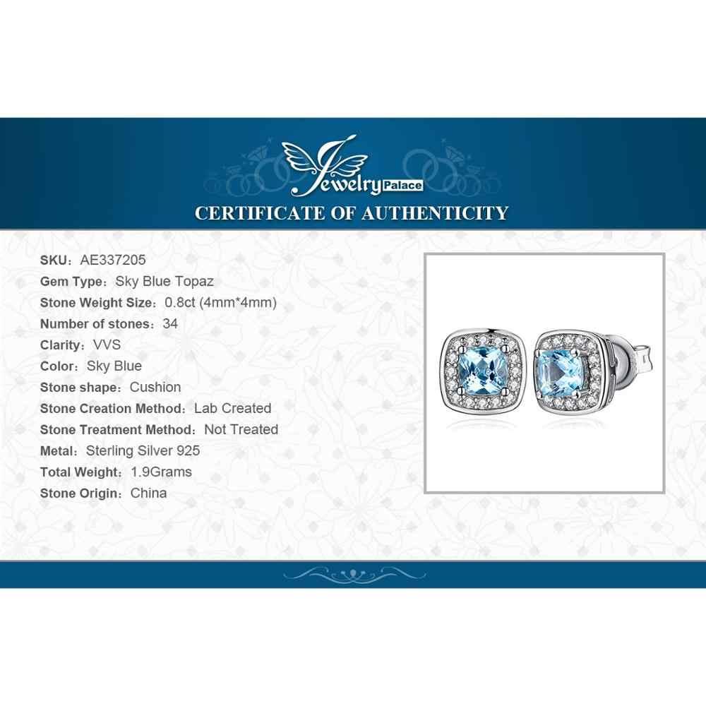Jewelrypalace クッション本物のスタッドのイヤリング 925 純銀製のイヤリング韓国のイヤリングファッションジュエリー