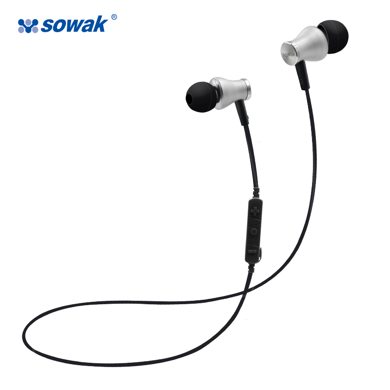 Sowak S1 Sports Earphones Wireless Bluetooth 4.1 Headphones Aptx HiFi 3D stereo earphones with mic sports ear hook for phone letike bluetooth headphones wireless sports earphones sweatproof headset magnetic aptx hifi 3d stereo with mic for iphone xiaomi