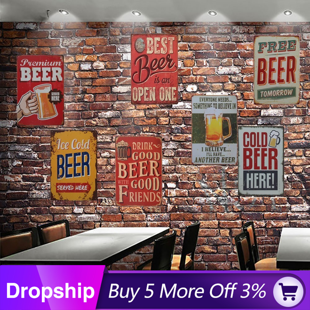 Metal Tin Sign sale half off Decor Bar Pub Home Vintage Retro Poster Cafe ART