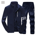 Men's Sportswear Suit 2016 tracksuit luxury brand men sportsuits fashion suits winter warm sweatpants hoodies mens Plus Size