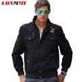 LONMMY M-4XL Brand clothing Bomber jacket men coat Cotton Jaquetas masculina Military men jacket coat Army green Kahki Casual