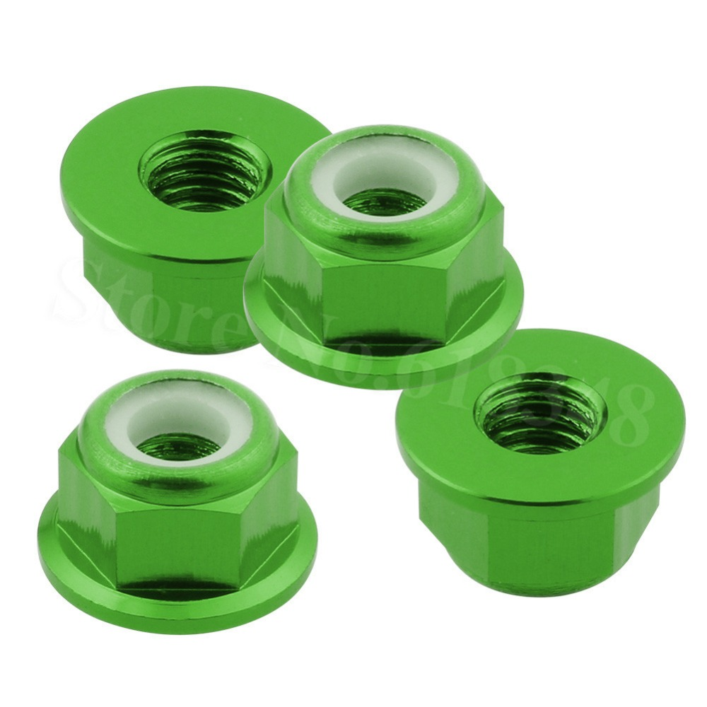 4pcs Aluminum Nylon Nut M4 For 1:10th RC Car Baja Monster Truck 94111 HSP 1/10 Upgrade Parts 102049