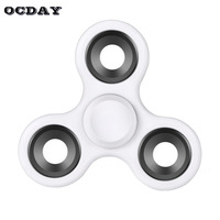 OCDAY Tri-Spinner Hand Spinner Fidget Toys Autism ADHD Plastic EDC Rotation Long Time 8 Colors Finger Spinner Stress Relief Toy