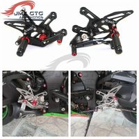 Motorcycle CNC Adjustable Rear Set Rearsets Footrest Foot Rest For KAWASAKI ZX10R 2016 2017 2018