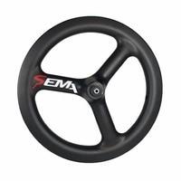 Carbon wheels SEMA T700 14inch trispoke best carbon wheel clincher rim for small bike 3K/UD/12k multi purpose super light weight