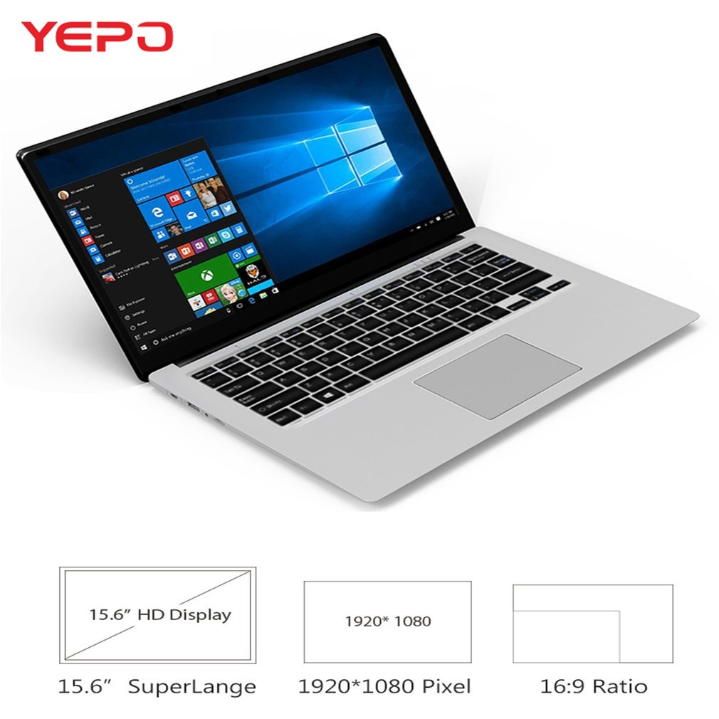 YEPO 737A6 Laptop Notebook 15.6 Inch Intel Apollo Lake J3455 8G RAM 128 ROM SSD DDR3 Intel HD Graphics 500 Support Multilanguage