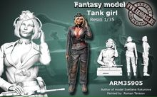 1:35 World War II German women tanker hand (can be made into two states)