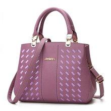 Фотография Women Handbags Embroidery Thread Tote Bag Office Lady Shoulder bags High Quality PU Leather Female Handbag Five Color Avaialble