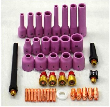 2015 new Free shipping soldering iron 42PCS TIG Gas Lens KIT,Back Cap Collet Body Fit TIG Welding Torch SR WP9 20 25,M325 fashion luggage female small fresh 16 20 suitcase universal wheels trolley luggage travel 24 soft box vintage hello kitty luggag