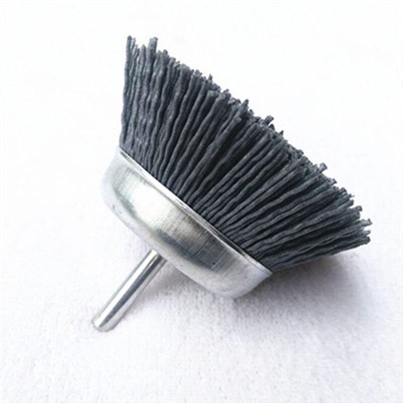 Nylon Abrasive Brush Shank Bowl-shaped Brush Polished Flower Head Wire Brush Abrasive Polishing Tool