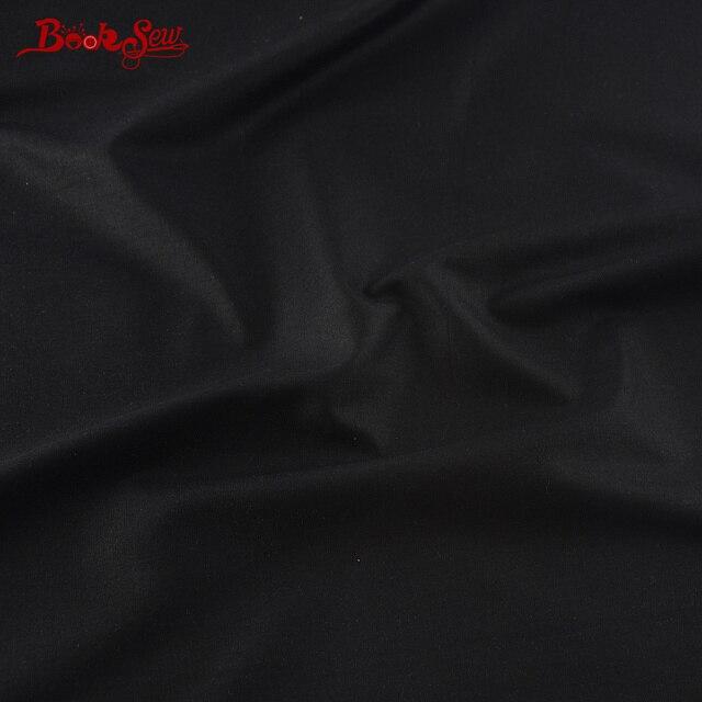 Tissu de couture 100% coton   Mètre de couleur noire, tissu de couture pour la maison, Telas bricolage pour couettes Patchwork, Tissus de robe