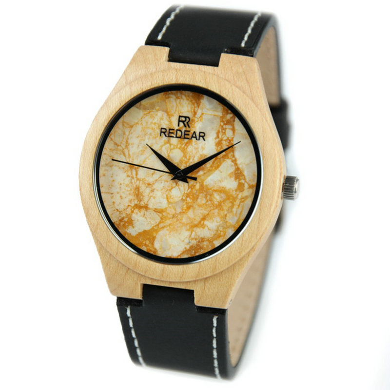 2017 luxury brand men's quartz watch marble simple fashion creative Black Genuine Leather Quartz Wrist Watch luxury marble