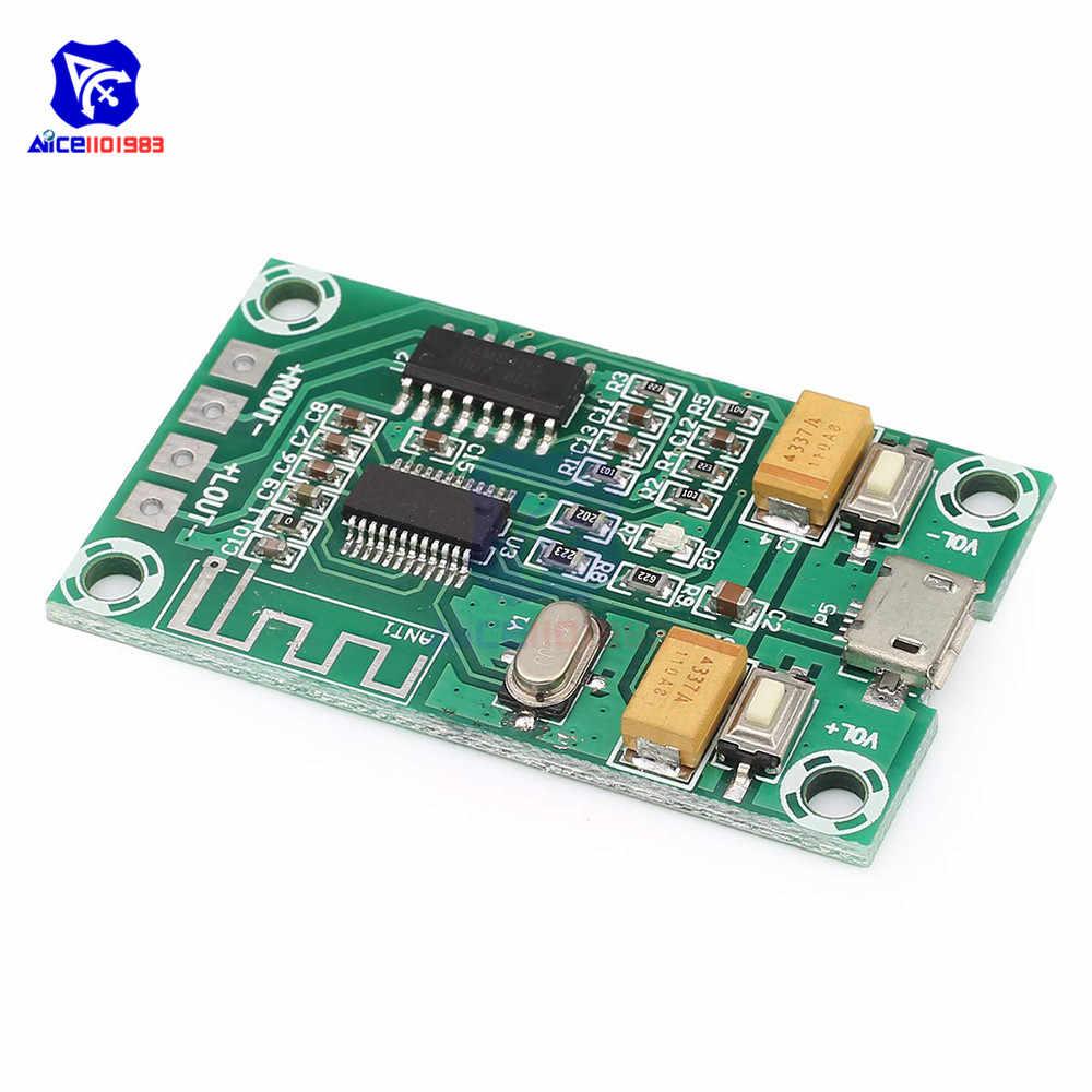 PAM8403 classe D DC 5V 2 canaux Micro USB amplificateur Audio numérique carte Module 2*3W commutateur de contrôle de Volume carte amplificateur stéréo