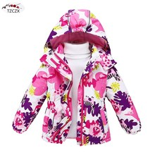 Winter Children girls jackets European and American style Windproof rainproof kids hooded coats