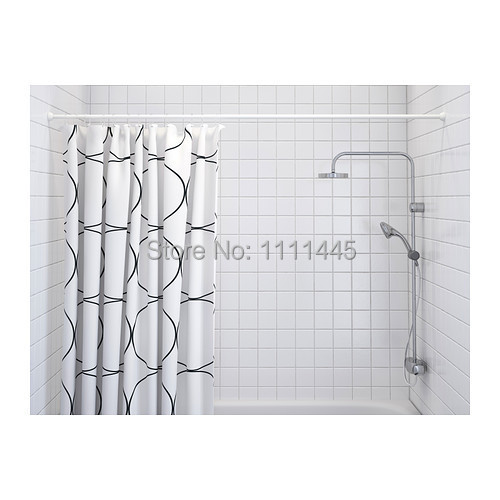 Shower Curtain Rod, Poles,white,install Without Screws Or Drilling,extend It