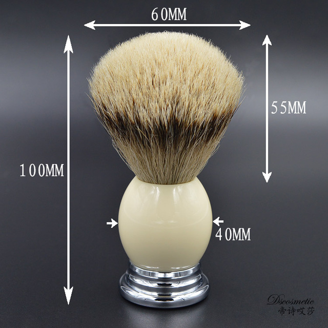 The  hand-crafted Silvertip Badger Hair Shaving Brush with Resin  Handle  metal base brush manufacturers